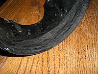Name: CIMG7568.jpg Views: 88 Size: 242.2 KB Description: Severe shroud damage showing fracture and rubbing.