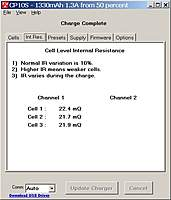 Name: charge complete IR.jpg Views: 76 Size: 49.4 KB Description: Internal resistance after charge completed