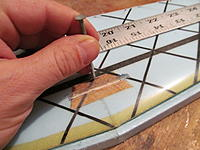 Name: IMG_0294.jpg Views: 121 Size: 172.7 KB Description: Use a nail to mark the intersection of the line we made and the center of the stab.