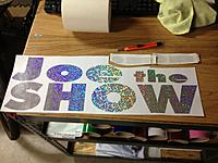 """Name: IMG_1397.jpg Views: 218 Size: 235.1 KB Description: Cut from craft store $1.50 24""""x12"""" Silver Sequin Holographic vinyl sheet."""