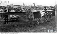Name: kogutek.jpg Views: 361 Size: 56.3 KB Description: I believe this is Mr. B. in Warsaw, looking grouchy because he wasn't able to compete. Or perhaps it was from one of his many later flights all over Poland.