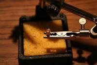 Name: Bullet Connector Held.jpg Views: 307 Size: 41.9 KB Description: Bullet connector held in place ready for soldering.