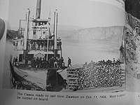 """Name: image0006.jpg Views: 236 Size: 48.5 KB Description: More wood, on a barge. Page 40, """"Yukon river steamboats"""""""