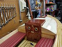 Name: BC Bobcat Cabin Door.jpg Views: 18 Size: 3.45 MB Description: The cabin doors have had their brass hardware attached.  The doors will be attached after the cabin walls are painted.