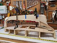 Name: PC Gluing up the keel.jpg Views: 55 Size: 173.0 KB Description: The subdeck is cut and screwed to blocks that hold its shape while the boat is built.  The keel parts are cut and test fit to the subdeck.