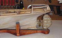 Name: Rudder Installed.jpg Views: 270 Size: 188.7 KB Description: The rudder, skeg, and rudder tube went into the boat pretty easily...just a little filing on the hole in the boat and everything lined up as it should.