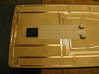 Name: PC120311.jpg Views: 192 Size: 60.3 KB Description: Underside of the cabin top ready for painting. Copper foil tape running to locations where lights\LED's will be located.