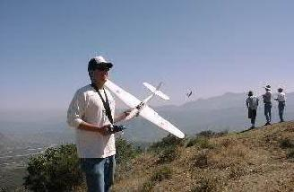 and was able to get enough wind to throw it for a perfect maiden flight.
