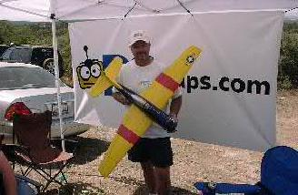Bill Lamping's 68oz Bear Cat is made from a Ray Harris Fuselage and uses Futaba gear. This plane didn't get placed on the carpet for the judges to consider but I thought it looked great.