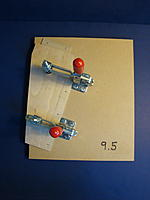 """Name: DSC03613.jpg Views: 407 Size: 77.3 KB Description: 9-1/2"""" fixture clamped in place on sled. Ready to be passed through table saw and trimmed."""