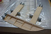 Name: DSC04066.jpg Views: 62 Size: 189.6 KB Description: Another aspect in the uses of the building board - holding parts in place while they're being shaped and sanded.