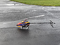 Name: IMG_4545.jpg Views: 154 Size: 8.44 MB Description: Happy New Year's Eve!  What better way to end the year than with a new heli.  This is the T-Rex 700 for low head speed at 9.5lbs RTF on 6s.
