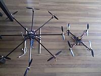 Name: WP_000258b.jpg Views: 240 Size: 189.2 KB Description: Size comparison Flyduino Quad vs Flyduino FCP Octo