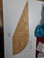 Name: IMG_20180727_081930.jpg Views: 21 Size: 318.9 KB Description: The gore tool.  Chip board (cause that's what I had), edged with maple veneer to create a clean seam edge.