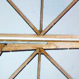 A closeup of a few typical truss-loc joint.