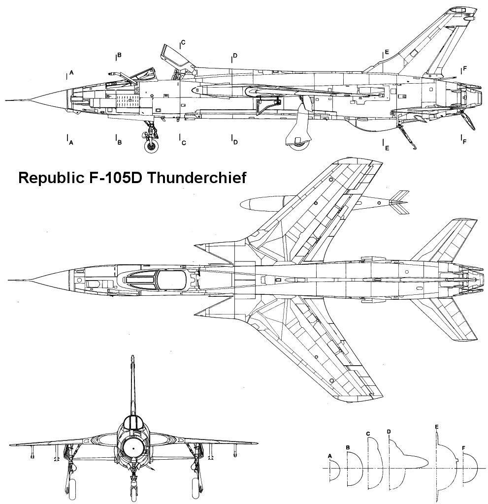 Attacht browser: F-105 3-view 06.jpg by beanie - RC Groups