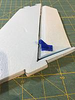 Name: IMG_9390.jpg Views: 8 Size: 2.27 MB Description: glue the rudder control horn in. make sure it is perpendicular to the hinge line