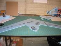 Name: MiG-15 build pic 04.jpg Views: 1655 Size: 81.7 KB Description: pic showing the installed spar.  i've recently been using <6mm dia CF spars so that i don't cut entirely through the wing.  i then place this side down to hide from view