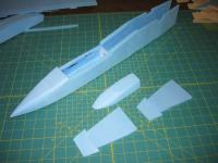 Name: MiG-32 construction pic 11.jpg Views: 1361 Size: 79.8 KB Description: sand canopy to shape and taper the inlet splitter front ends