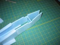 Name: MiG-32 construction pic 17.jpg Views: 1329 Size: 91.6 KB Description: add bulkhead #3 and sand aft end of forward fuse to a taper
