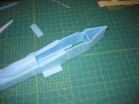 Name: MiG-32 construction pic 18.jpg Views: 1291 Size: 87.3 KB Description: glue ends of forward fuse together and ensure they are midline.  also attach the forward botom duct