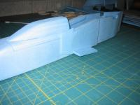 Name: MiG-32 construction pic 19.jpg Views: 1400 Size: 75.0 KB Description: another pic of the forward bottom duct.  note how it is slanted upwards