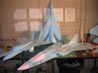 Name: F-111 100% preview 08.jpg Views: 2588 Size: 77.5 KB Description: version 1 of F-111 Aardvark next to a 100% beanie Mig-23 and 100% JetSet44 F-15.  this is a prelim pic and will be deleted and replaced by the final version 2 F-111 after completion.