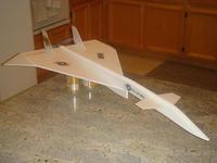 """Name: XB-70-Mike-04.jpg Views: 453 Size: 97.2 KB Description: XB-70. 21"""" span. hexTronik 1300kv."""