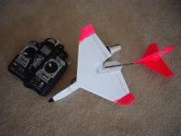 Name: Stickler34 006.jpg Views: 368 Size: 91.9 KB Description: Spiral dive from 30ft cracked the nose, knocked the fan off, and tore away the tail boom.  Should be repairable but the spiral dive is a problem.