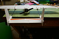 Rudder>aileron mix with right rudder stick and neutral aileron stick.