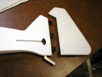 Name: Fidget Tail.jpg Views: 458 Size: 125.7 KB Description: Slotted hinges into 6 mm Depron rudder
