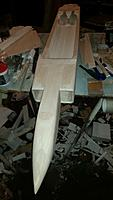 Name: 20181016_203057.jpg Views: 21 Size: 376.7 KB Description: Fuselage covering complete, ready for the wing.