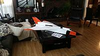 Name: 20181112_130735.jpg Views: 18 Size: 699.2 KB Description: Complete airframe covered and ready for radio and fans.