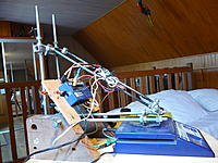 "Name: Louis bench 05.jpg Views: 155 Size: 233.7 KB Description: Two ""L shaped + diagonal arms"" Igus polymer pivots inside wood blocks"
