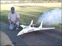 Name: JonsJet%20Smokes.jpg Views: 811 Size: 87.9 KB Description: My first jet.  A comp arf rookie with jetcat p120!