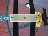 Name: battery_tray_top_installed01.jpg Views: 179 Size: 57.1 KB Description: Top view of battery tray screwed in place with countersunk screws and Velcro installed between fuselage and battery tray.