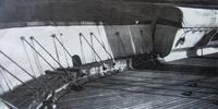 Name: bulwarks.jpg Views: 363 Size: 53.2 KB Description: Forward, portside folding bulwarks in 1953.