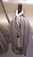 Name: belay1.jpg Views: 217 Size: 88.3 KB Description: Highlighter portion if the 'bight' pulled through, twisted, and laid over the pin to hold the coil.