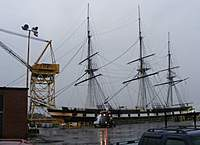 Name: dscf0001.jpg Views: 221 Size: 124.8 KB Description: 0700 Monday morning - Constellation in the graving dock at Sparrows Point Shipyard.
