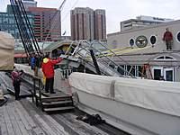 Name: dscf0198.jpg Views: 160 Size: 96.7 KB Description: Bringing the gangway aboard.
