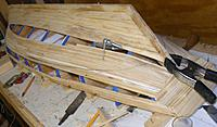 Name: pri20111027f.jpg Views: 165 Size: 112.2 KB Description: This weekend I'll finish up the planking and fair it all up.