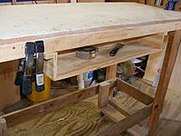 "Name: dyws20120516b.jpg Views: 73 Size: 124.5 KB Description: The ""sit it down"" shelf behind the drawer"