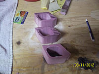 Name: 100_1769.jpg Views: 79 Size: 163.5 KB Description: Started by making 3 copies of the intake. the last two sections I moved the intake hole up a few mm as there is a upward slope at the bottom of my model and needed room to sand.