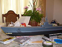 Name: 1918.jpg Views: 477 Size: 256.5 KB Description: pic of built sub before the forward torpedo tube was painted.