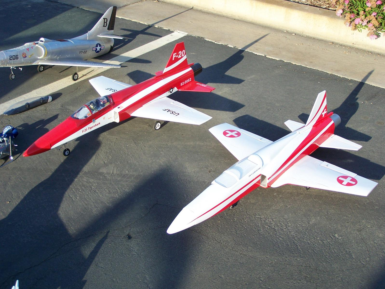 Name: 100_1069.jpg Views: 246 Size: 275.2 KB Description: HET F20 beside a AFA Airpower F20. Can you tell which one is which?