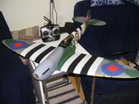 Name: Spitfire 110509.jpg Views: 61 Size: 60.9 KB Description: Nervously awaiting its maiden.