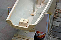 Name: Noux2_#2_03.jpg Views: 686 Size: 112.8 KB Description: Have to add block to transom for backstay wire hoop.