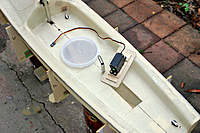 Name: Noux2_#2_26.jpg Views: 736 Size: 87.9 KB Description: Rudder servo - mounting stolen from Maximuss build. This way nothing touches hull bottom in case of water ingress.