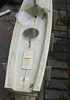 Name: Noux2_#2_35.jpg Views: 720 Size: 74.2 KB Description: Rudder arm will be connected with push-pull clevises. Shroud and backstay go in after deck is glued.