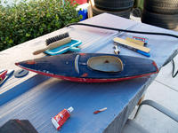 Name: res011.jpg Views: 78 Size: 134.5 KB Description: After removing the keel I started working on all the low spots and cracks that needed repairing.